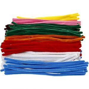 Creotime Lot Fil chenille Multicolore - 9 mm x 30 cm 200 pcs