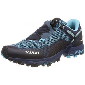 Salewa WS Ultra Train 2, Chaussures de Randonnée Basses Femme, Bleu (Capri/Poseidon 3395), 38.5 EU