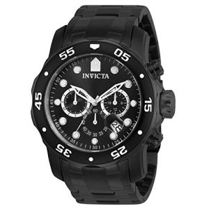 Invicta Pro Diver en acier inoxydable noir Chronograph Mens Watch 0076