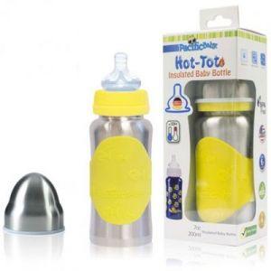 Pacific Baby Biberon inox isotherme jaune évolutif (200 ml)