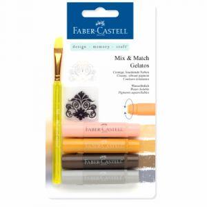 Faber-Castell Crayons Gelatos 4 nuances terre