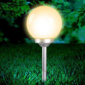 Globo Lampe solaire SOLAR LED Blanc, 4 lumières - Moderne - Extérieur - SOLAR - Délai de livraison moyen: 6 à 10 jours ouvrés. Port gratuit France métropolitaine et Belgique dès 100 €.
