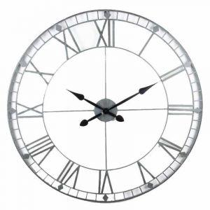 Declikdeco Horloge Gris D90cm NEPTU