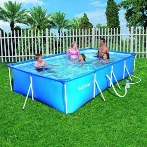 Bestway 56083 - Set piscine tubulaire rectangulaire 400 x 211 x 81 cm