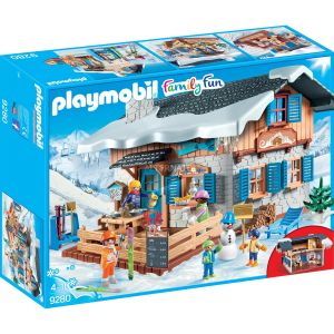 Image de Playmobil 9280 - Family Fun : Chalet avec skieurs