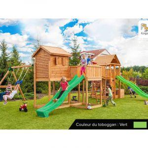 Fungoo Aire de jeux Maxi Play Box - Toboggan Vert