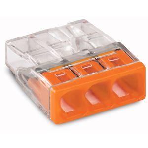 Wago Borne 2273-203 Nombre de pôles: 3 transparent, orange 30 pc(s)