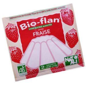Natali Bio-flan saveur fraise sans sucres ajoutés