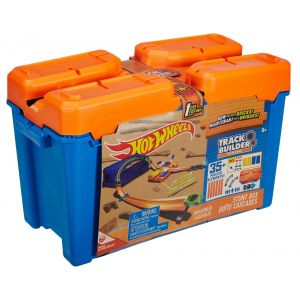 Mattel Hot Wheels Coffret piste construction briques