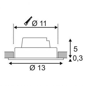 SLV Spot LED encastrable LED intégrée New Tria 1 Set 114230 blanc chaud 12 W noir (mat)