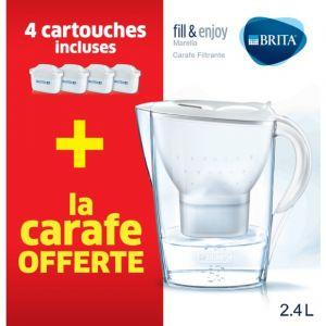 Brita Carafe filtrante Marella + 4 cartouches 1033060