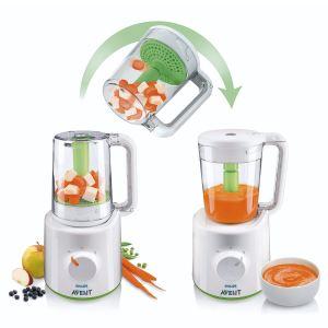 Philips Avent SCF870 - Robot cuiseur vapeur et mixeur (sans BPA)