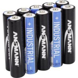 Ansmann Pack de 10 piles au Lithium Micro AAA/LR03