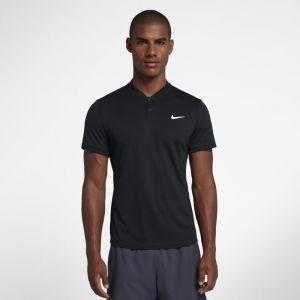 Nike Polo de tennis Court Dri-FIT pour Homme - Noir - Taille L - Homme
