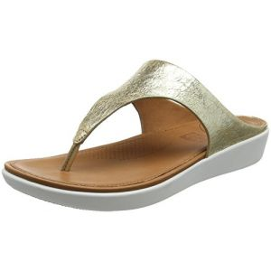 FitFlop Banda II Toe-Thong Metallic, Sandales Bout Ouvert Femme, Or (Metallic Gold 537), 40 EU
