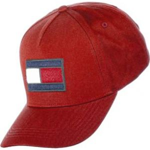 Tommy Hilfiger SPW Flag Cap, Casquette De Baseball Homme, Rouge Red 614, Unique (Taille Fabricant: OS)