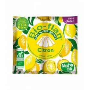 Natali Nat ali Bio-flan non sucré parfumé - citron - Lot de 10 x 2 doses de 4g