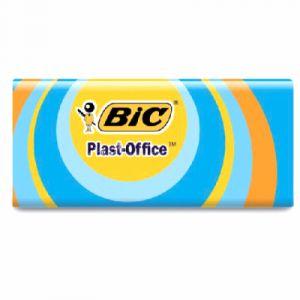 Bic 927867 - Gomme plastique Plast-Office, sous étui carton, blanche