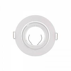 Vision-El Support Spot LED Orientable Rond D93 Blanc -