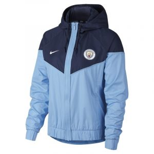 Nike Veste Manchester City FC Windrunner pour Femme - Bleu - Taille XL