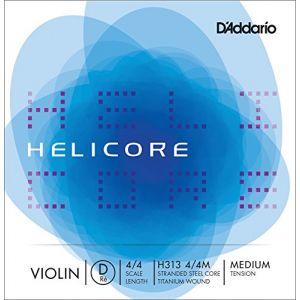 D'Addario Daddario Helicore Violon 4/4 Corde De Re Medium/file Titane