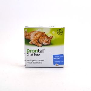 Bayer Drontal Chat - Vermifuge, 2 comprimés