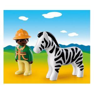 Playmobil 9257 - 1.2.3 : Soigneur avec zèbre