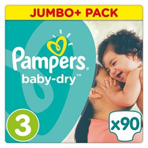 Pampers Baby Dry Midi taille 3 (4-9 kg) - Jumbo Plus Pack 90 couches