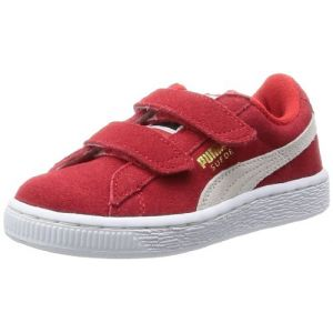 Puma Sneakers Basses mixte enfant, Rouge (High Risk Red/White), 19 EU