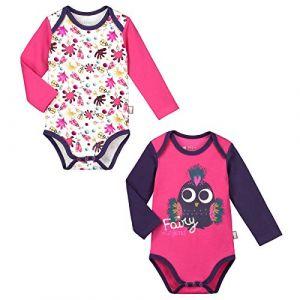 ab9269030f9e9 Petit Béguin Lot de 2 bodies manches longues bébé fille Fairytails - Taille  36 mois (