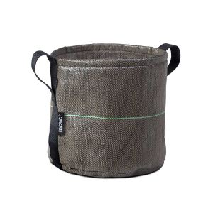 Bacsac Pot rond 10L à anses en tissu batyline Ø23 x 23 cm
