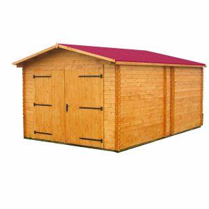 Habrita Garage Madriers Massifs 28 mm - 20.98 m²