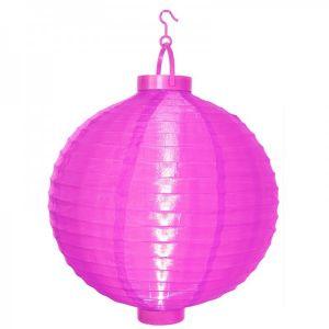 Lampion solaire couleur rose - STAR