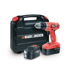 Black & Decker EPC18CABK - Perceuse visseuse sans fil 18V + 2 batteries