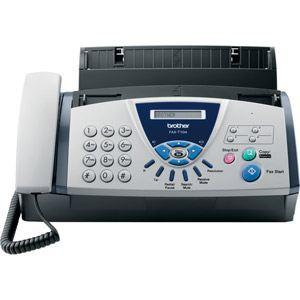 Brother FAX T104 - Fax à transfert thermique avec téléphone