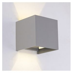 Kosilum Applique murale LED Extérieur & Intérieur - Cubic Gris - EN SOLDES !