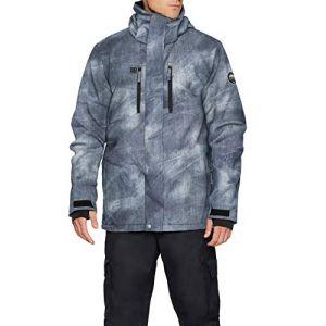 Quiksilver Coupes vent Mission Printed Jacket Gris - Taille EU M