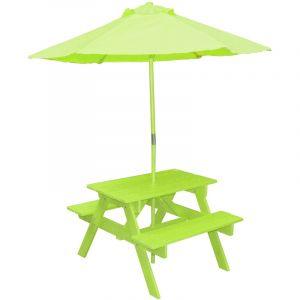Sunny Days Table pic-nique avec parasol Poupon - Anis