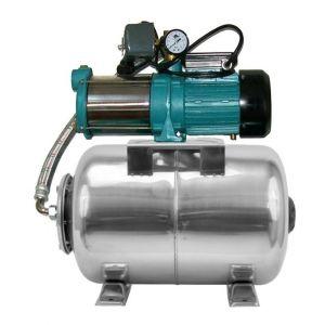Omni Pompe d'arrosage POMPE DE JARDIN pour puits 1800W 150l/min avec ballon surpresseur100L INOX