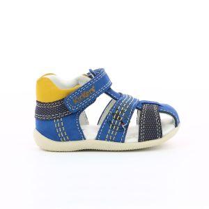 Kickers Sandales cuir Bonus Bleu Jaune - Taille 18;19;20;22;26