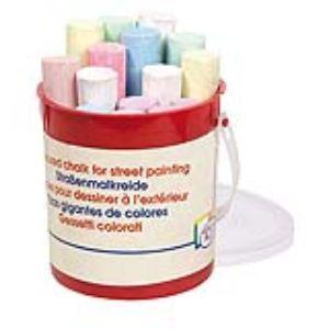 Toys Pure Boite de 15 craies de couleurs pour ardoise ou extérieur