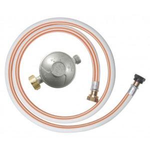Ribitech DG170TV810/B - Kit tuyau flexible butane avec 1 détendeur, 1 tétine et 1 tuyau flexible 1m50
