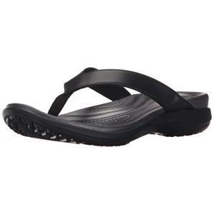 Crocs Capri V Flip, Tongs Femme, Noir (Black/Graphite) 39/40 EU