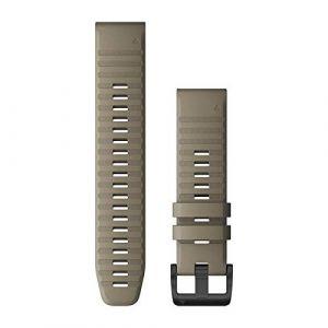 Garmin Bracelet de montre Quick Fit 22mm - Silicone Grès boucle Noir