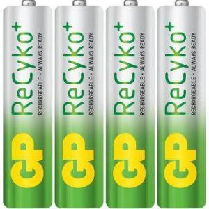 GP ReCyko+ 4x accu type AAA NiMH 1,2V