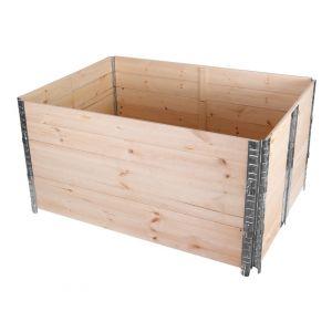 BC-Elec Bc elec - HMZZX-1 Carré potager 120x80x57cm, bac à fleurs, jardinière en bois, 3 niveaux empilable et modulable