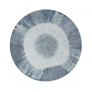 lorena canals tapis tie dye bleu vintage rond en coton lavable pour chambre bb garon par - Tapis Chambre Bebe Garcon