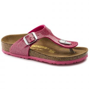 Birkenstock Gizeh, Tongs Fille, Rose (Noir Magic Galaxy Bright Rose), 30 EU