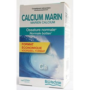 Biotechnie Compléments Alimentaires Calcium marin 100 gélules