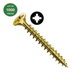 Spax 1081020400205 - Vis agglo tête fraisée bichromatée - lot de 1000 - 4x20 mm